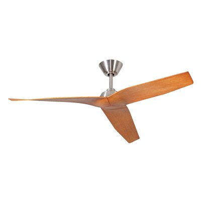 48 Brabham 3-Blade Ceiling Fan Finish: Brushed Polished Nickel