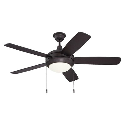52 Frank 5 Blade LED Ceiling Fan Blade Finish: Walnut/Oiled Bronze