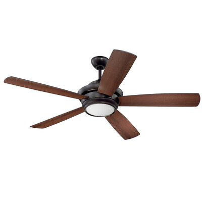 52 Cedarton 5-Blade Ceiling Fan Finish: Oiled Bronze with Oiled Bronze/Walnut Blades