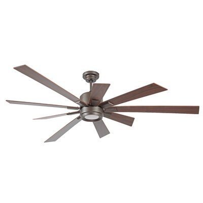 72 Birney 9 Blade Ceiling Fan Finish: Espresso