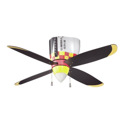 48 WarPlanes 4-Blade Ceiling Fan