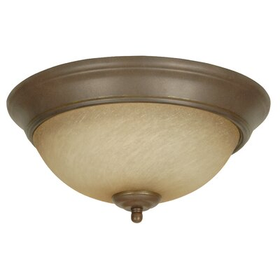 Arch Pan Flush Mount Size: 13, Finish: Aged Bronze