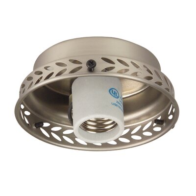 Ceiling Fan Fitter Color: Brushed Nickel