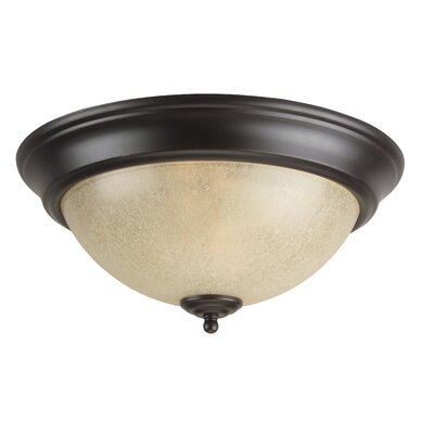 Arch Pan Flush Mount Size: 13, Finish: Oiled Bronze