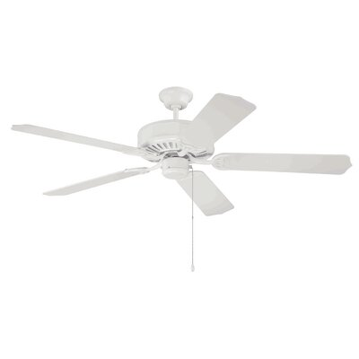 52 Godbold 5-Blade Ceiling Fan Finish: White with White Blades