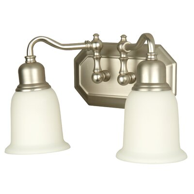 Heritage 2-Light Vanity Light Finish: Brushed Nickel