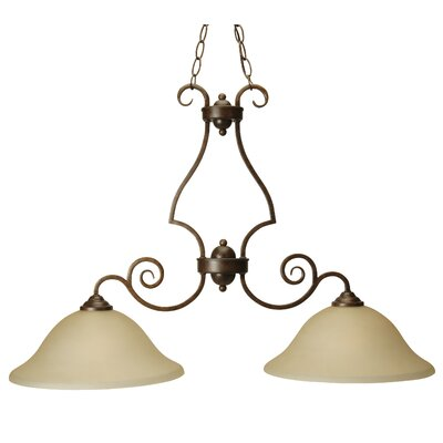 Jeppesen 2-Light Island Pendant Finish: Peruvian