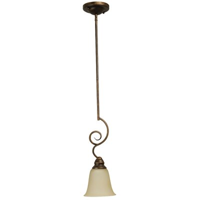 Bement 1-Light Mini Pendant Finish: Peruvian