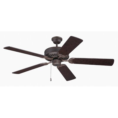 52 Godbold 5-Blade Ceiling Fan Finish: Aged Bronze with Contractors Design Blades