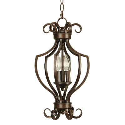 Builders 3-Light Foyer Pendant Finish: Peruvian