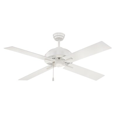 52 Fagundes 4 Blade LED Ceiling Fan Finish: White