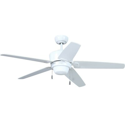 52 Atara 5-Blade Ceiling Fan with Wall Remote Finish: White with White/Maple Blades