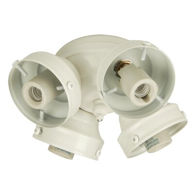 Four Light Ceiling Fan Light Budget Fitter with Limiter Finish: White