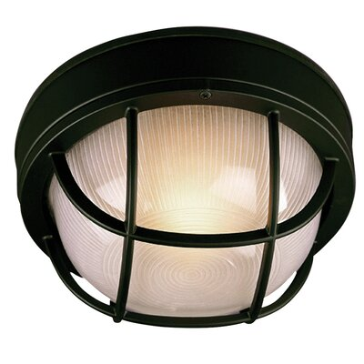 Bulkhead 1-Light Flush Mount Finish: Matte Black