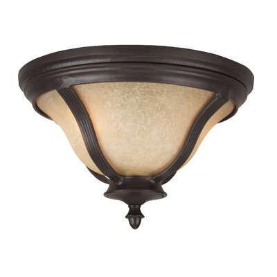 Oakhill Oiled Bronze 2-Light Flush Mount
