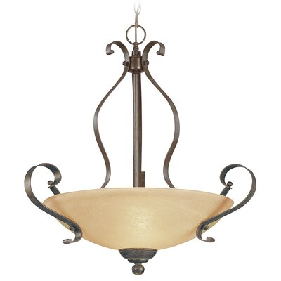 Brookfield 3-Light Inverted Pendant