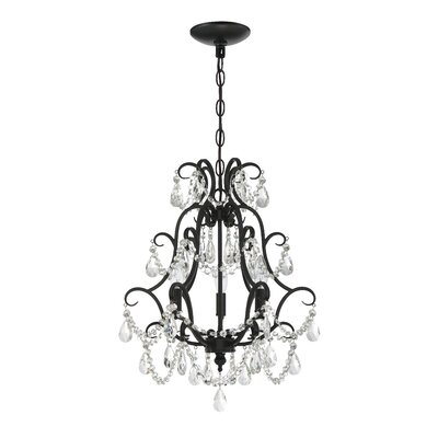 Bischoffs 3-Light Crystal Chandelier Finish: Espresso