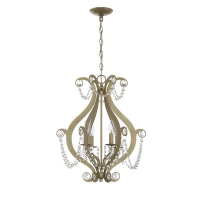 Bismark 4-Light Foyer Pendant Finish: Gold Twilight
