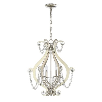 Bismark 4-Light Foyer Pendant Finish: Polished Nickel