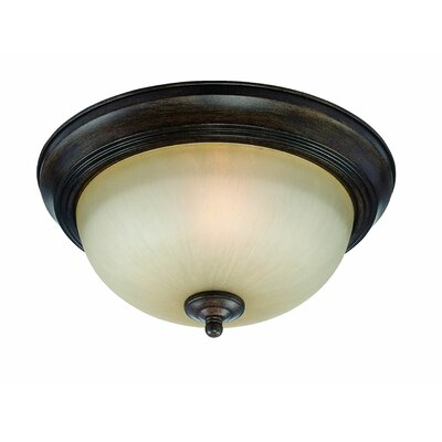 Bergeson 1-Light Flush Mount Finish: Century Bronze