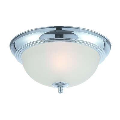 Bergeson 1-Light Flush Mount Finish: Chrome Plated
