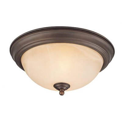 1-Light Flush Mount Finish: Old Bronze