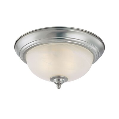 Bergeson 1-Light Flush Mount Finish: Satin Nickel