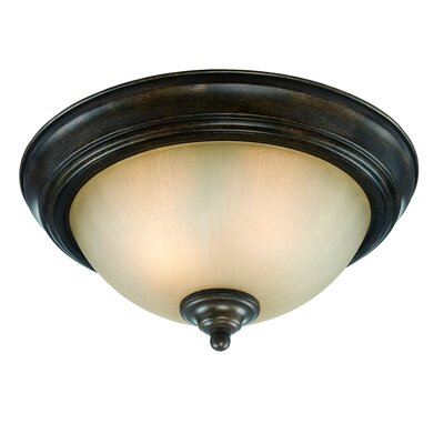 2-Light Flush Mount Finish: Century Bronze