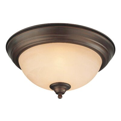 2-Light Flush Mount Finish: Old Bronze