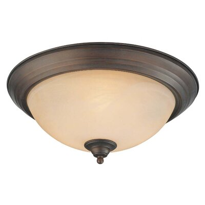 Bergstrom 3-Light Flush Mount Finish: Old Bronze