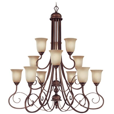 Melba 12-Light Shaded Chandelier
