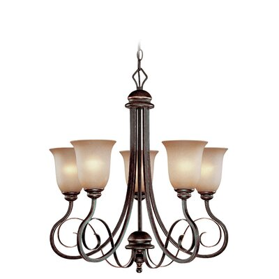 Melba 5-Light Shaded Chandelier