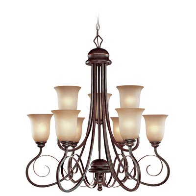 Melba 10-Light Shaded Chandelier