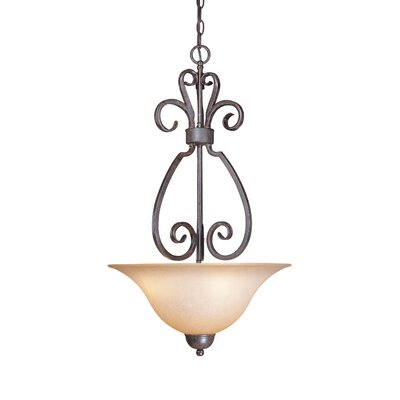 Nettie 3-Light Inverted Pendant