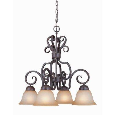 Nettie 4-Light Shaded Chandelier