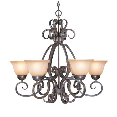 Nettie 6-Light Shaded Chandelier