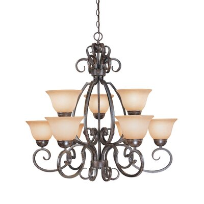 Nettie 9-Light Shaded Chandelier