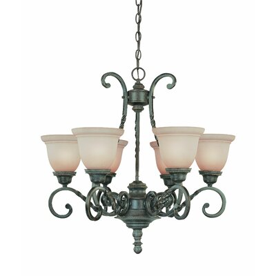 Sutherland 6-Light Shaded Chandelier