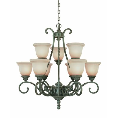 Westerleigh 9-Light Shaded Chandelier