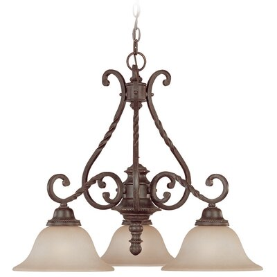 Westerleigh 3-Light Shaded Chandelier
