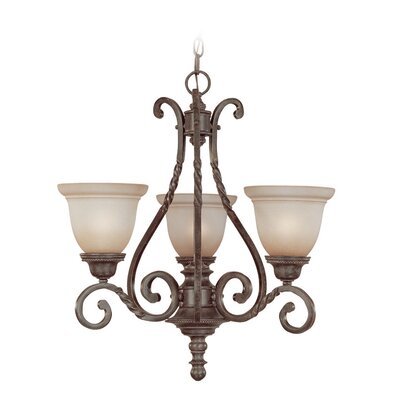 Westerleigh Traditional 3-Light Shaded Chandelier