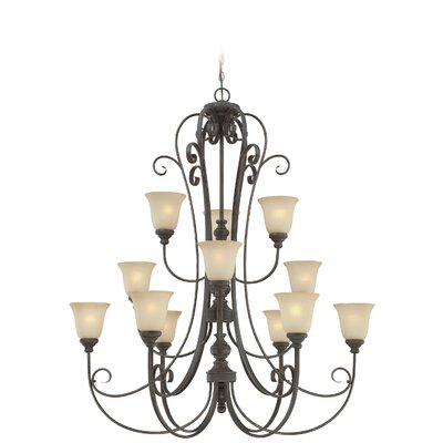 Lynette 12-Light Shaded Chandelier Finish: Mocha Bronze