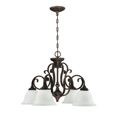 Chalfont 4-Light Shaded Chandelier Color: Metropolitan Bronze