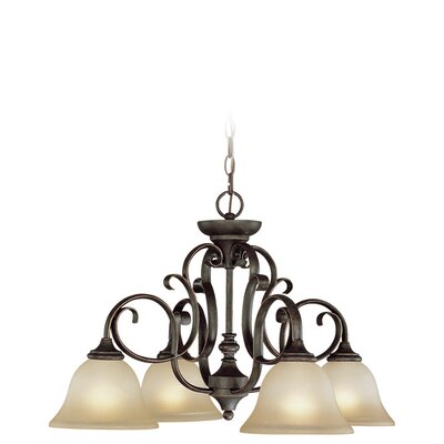 Chalfont 4-Light Shaded Chandelier Finish: Mocha Bronze