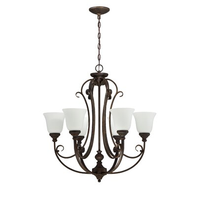 Chalfont 6-Light Shaded Chandelier Finish: Metropolitan Bronze
