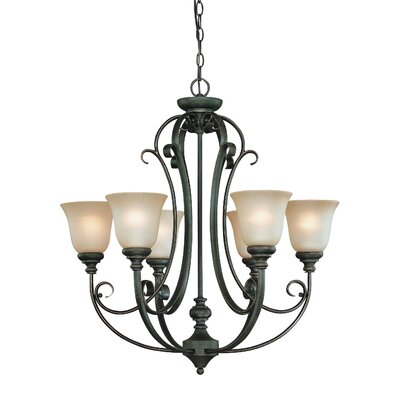 Chalfont 6-Light Shaded Chandelier Finish: Mocha Bronze