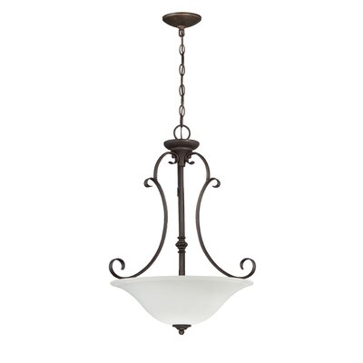 Chalfont 3-Light Bowl Inverted Pendant Color: Metropolitan Bronze