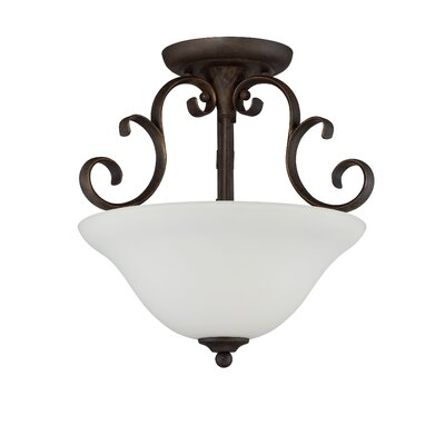 Chalfont 3-Light Semi Flush Mount Finish: Metropolitan Bronze