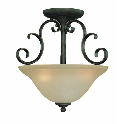 Chalfont 3-Light Semi Flush Mount Color: Mocha Bronze