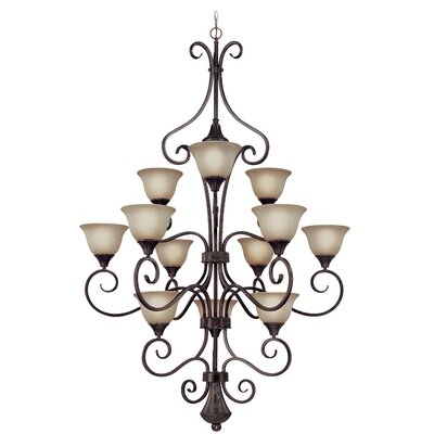 Torrey 12-Light Shaded Chandelier